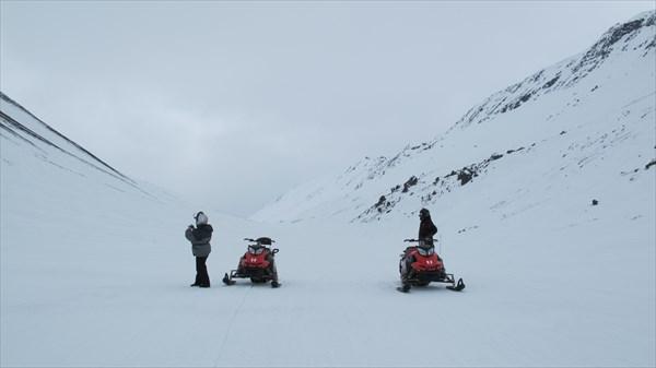 Пробный выезд на снегоходах