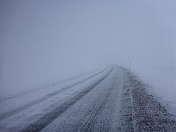 Наверху плато все еще настоящая зима!