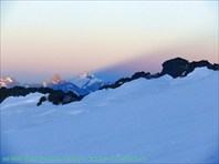 Тень от склона Эльбруса-гора Эльбрус